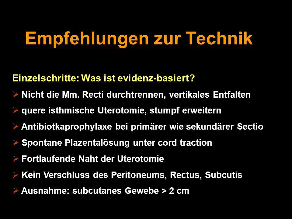 Empfehlungen zur Technik