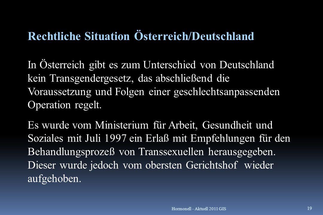 Rechtliche Situation Österreich/Deutschland