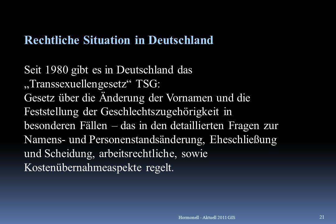 Rechtliche Situation in Deutschland