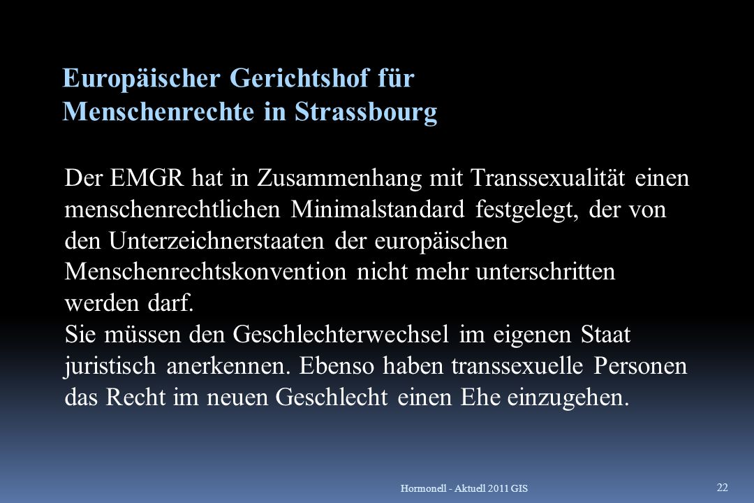 Europäischer Gerichtshof für Menschenrechte in Strassbourg