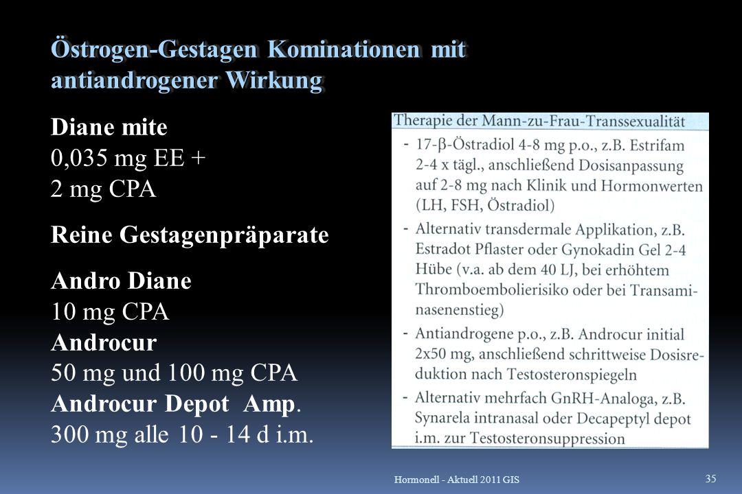 Östrogen-Gestagen Kominationen mit antiandrogener Wirkung