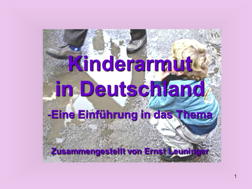 Kinderarmut in Deutschland