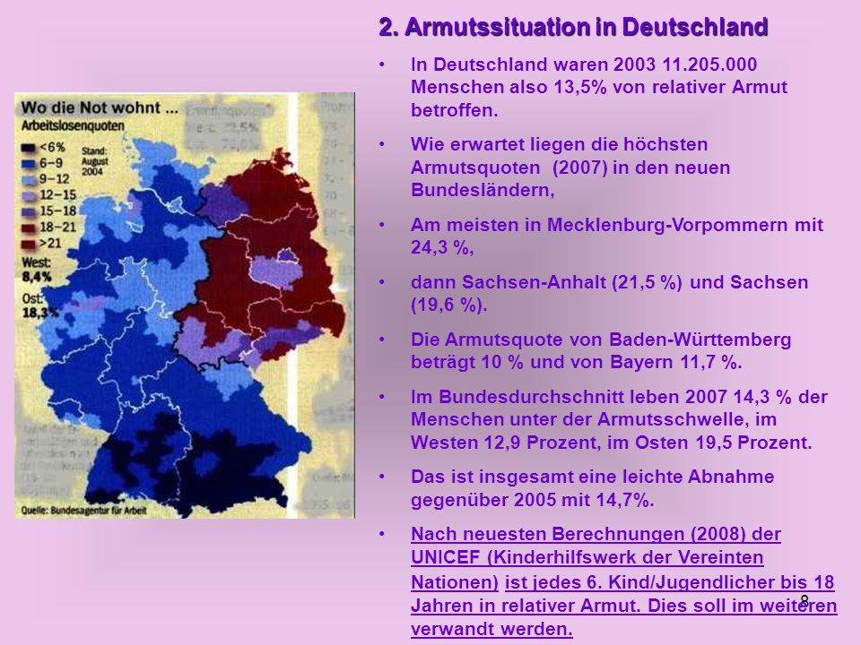 2. Armutssituation in Deutschland