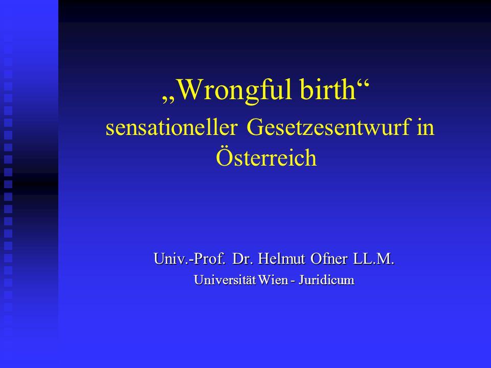 """""""Wrongful birth sensationeller Gesetzesentwurf in Österreich"""