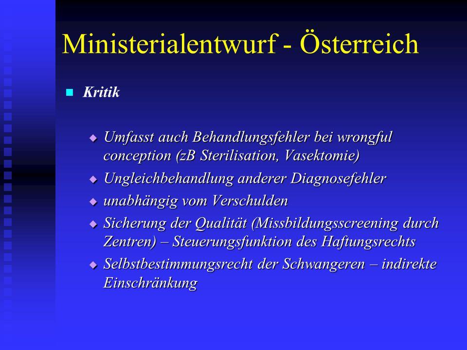 Ministerialentwurf - Österreich