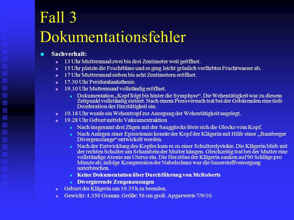 Fall 3 Dokumentationsfehler