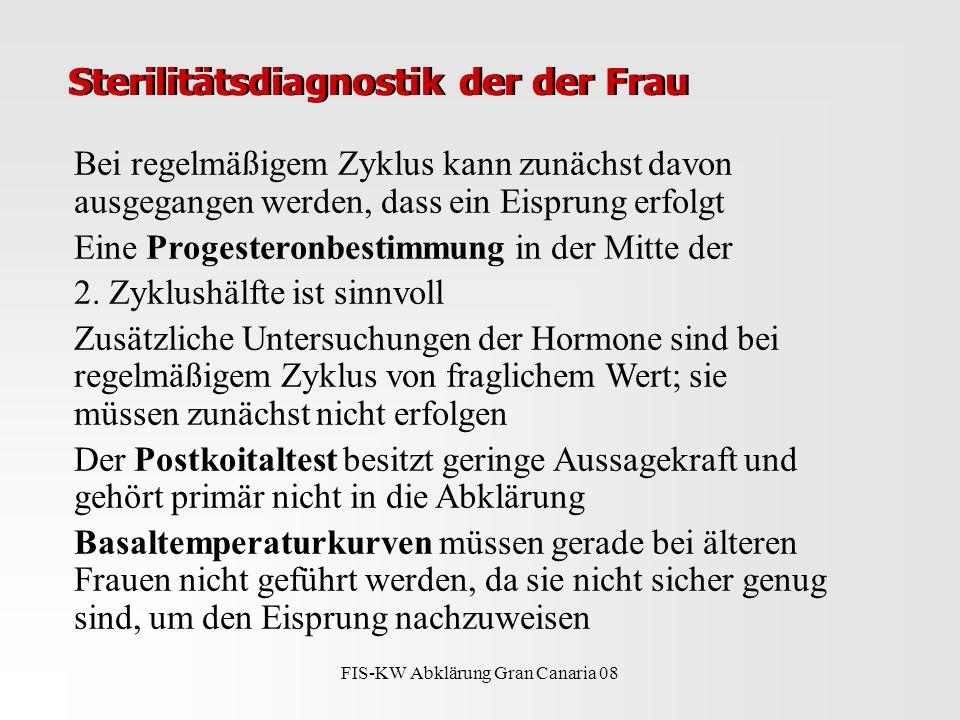 Sterilitätsdiagnostik der der Frau