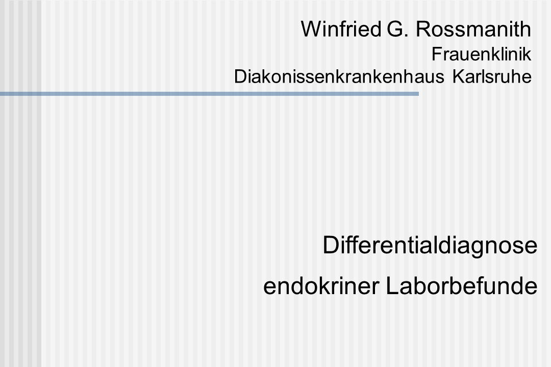 Differentialdiagnose endokriner Laborbefunde