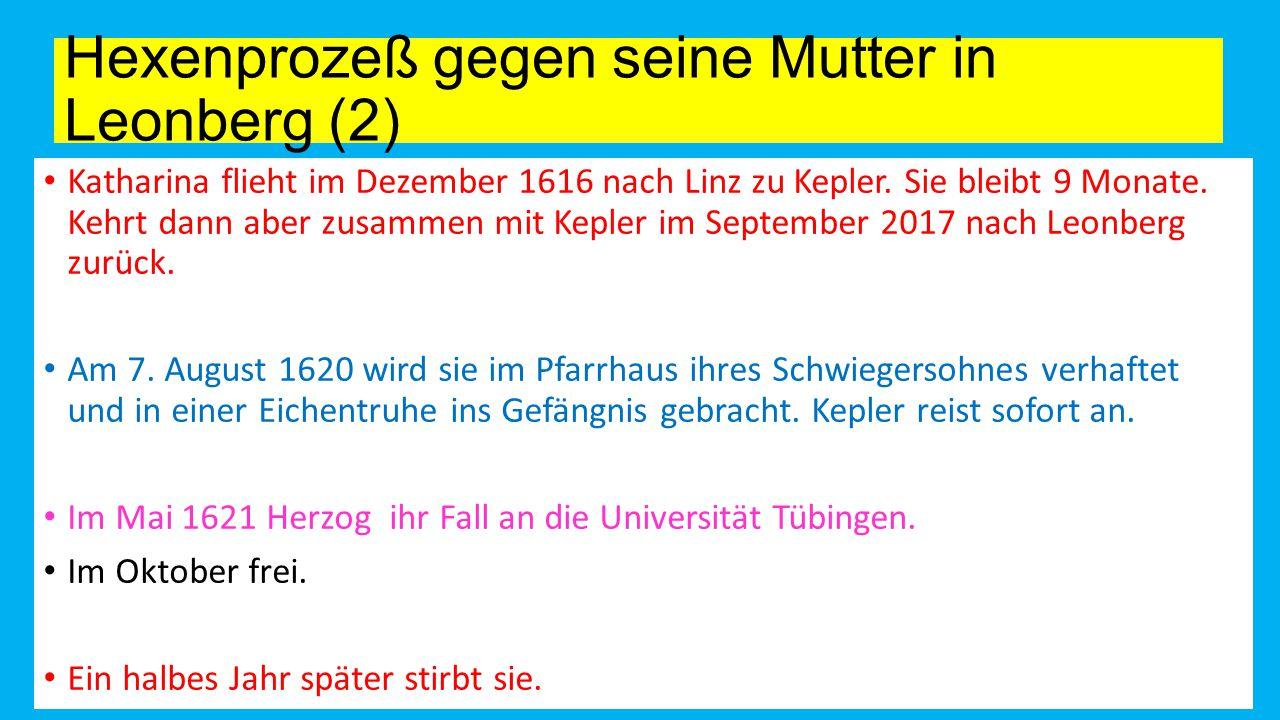 Hexenprozeß gegen seine Mutter in Leonberg (2)