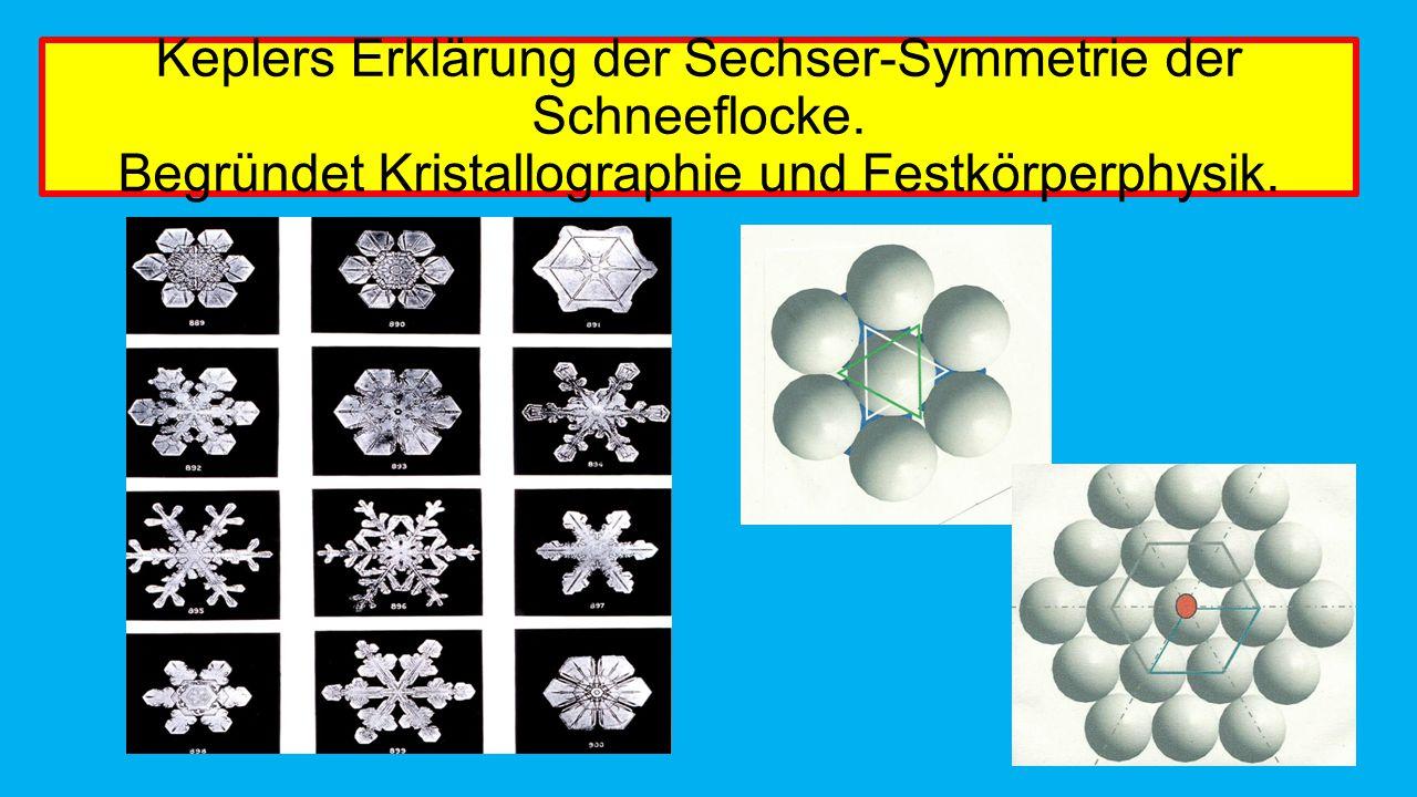 Keplers Erklärung der Sechser-Symmetrie der Schneeflocke
