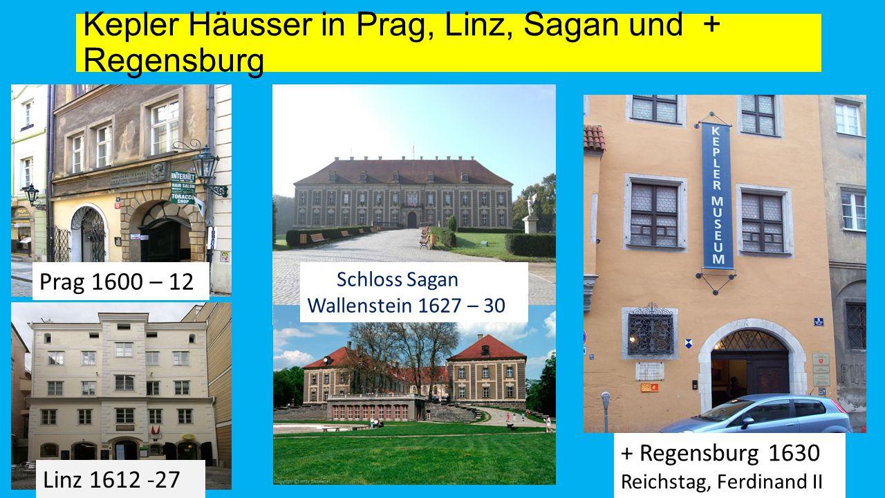 Kepler Häusser in Prag, Linz, Sagan und + Regensburg