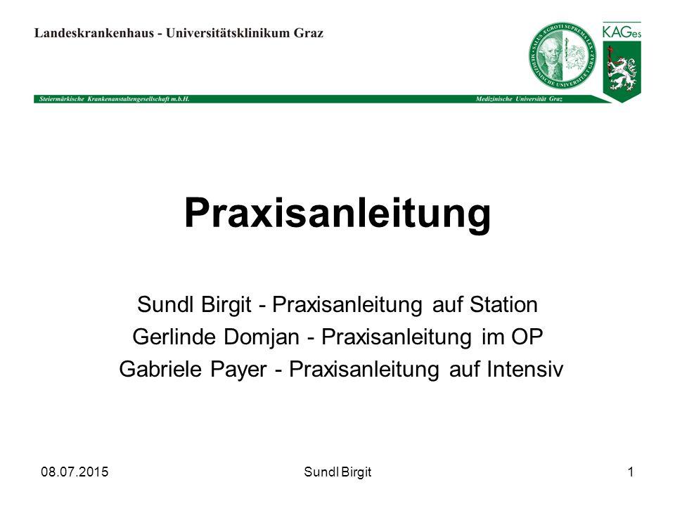 Praxisanleitung Sundl Birgit - Praxisanleitung auf Station