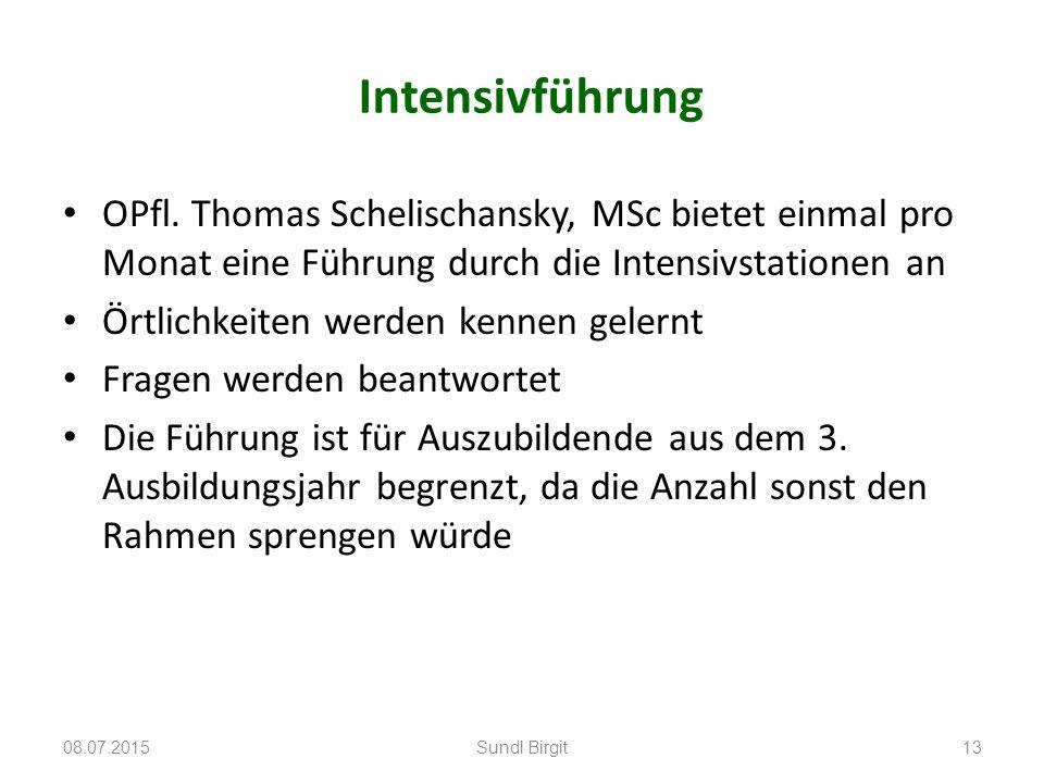 Intensivführung OPfl. Thomas Schelischansky, MSc bietet einmal pro Monat eine Führung durch die Intensivstationen an.