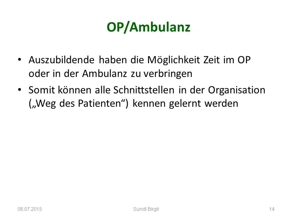 OP/Ambulanz Auszubildende haben die Möglichkeit Zeit im OP oder in der Ambulanz zu verbringen.
