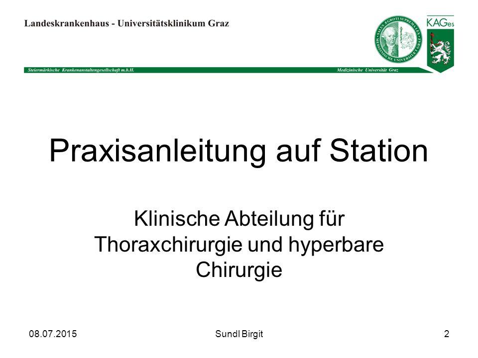 Praxisanleitung auf Station