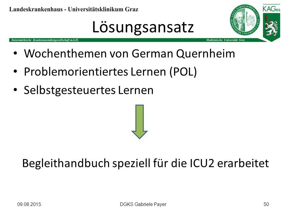 Begleithandbuch speziell für die ICU2 erarbeitet