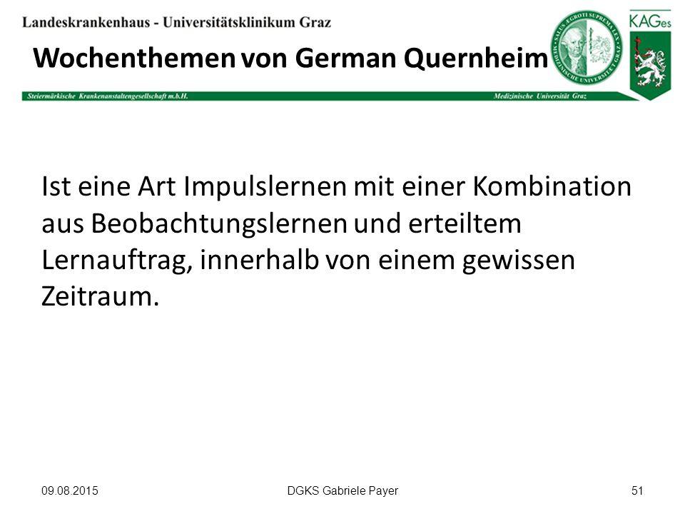 Wochenthemen von German Quernheim