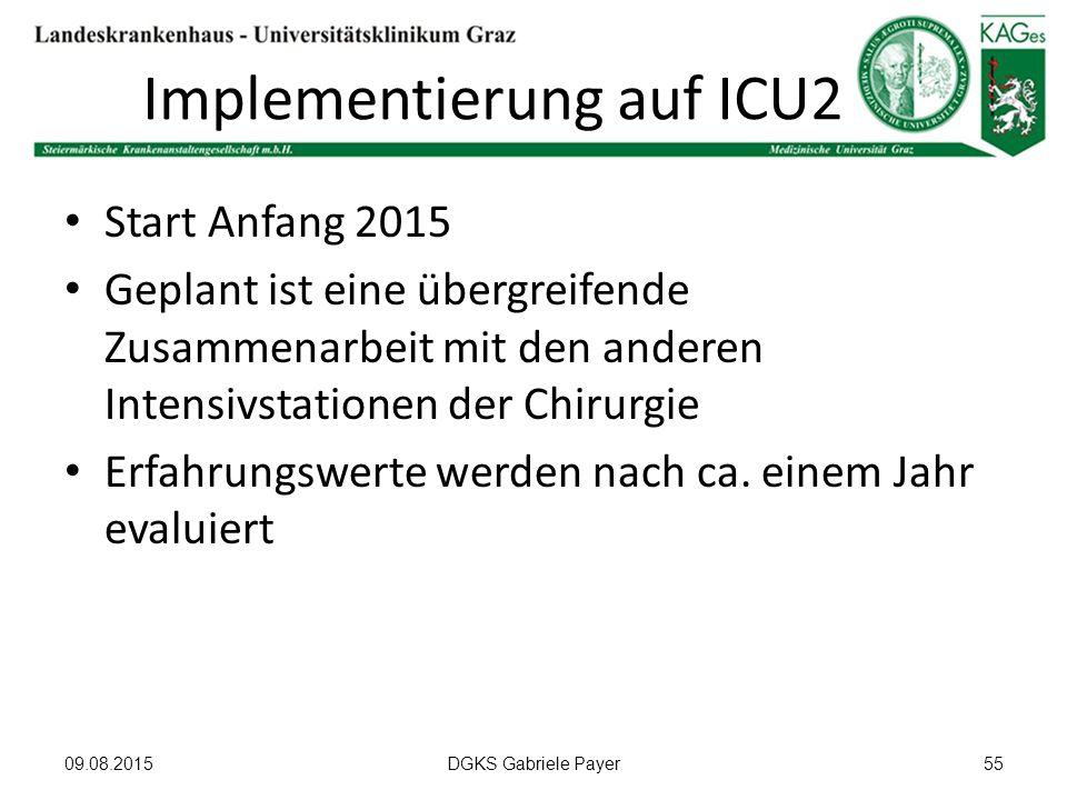 Implementierung auf ICU2