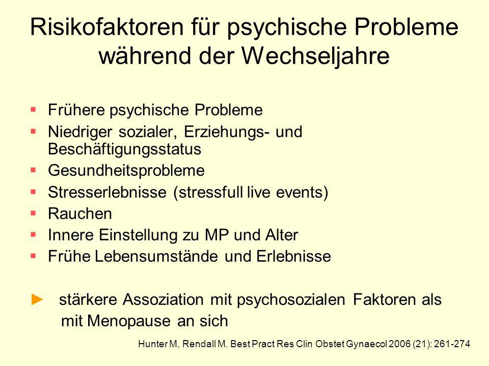 Risikofaktoren für psychische Probleme während der Wechseljahre