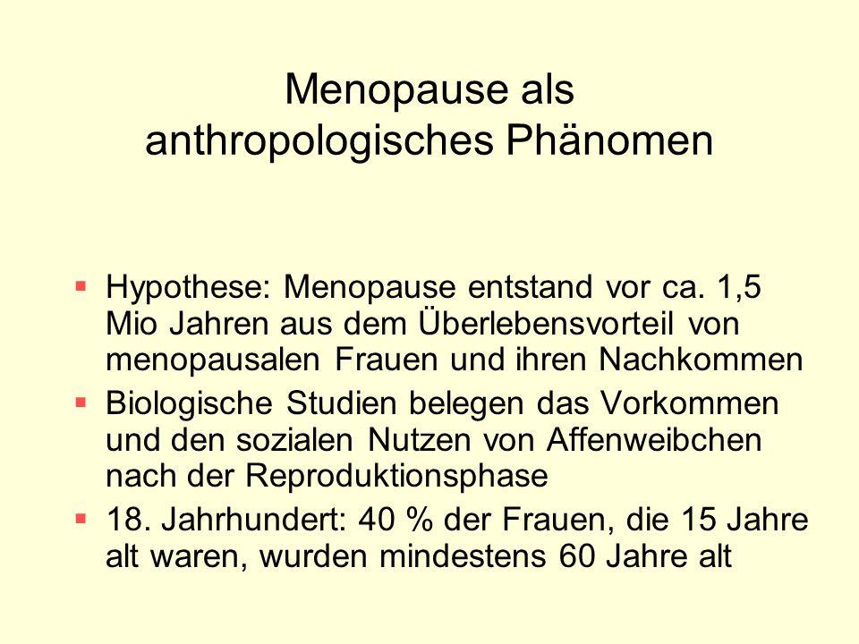 Menopause als anthropologisches Phänomen