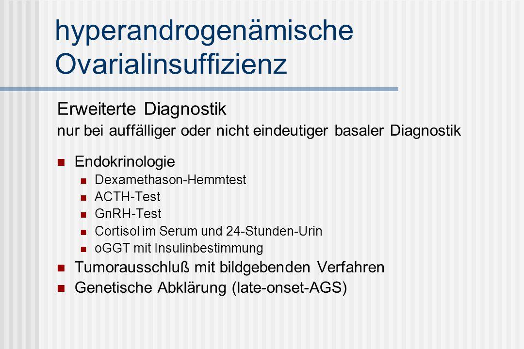hyperandrogenämische Ovarialinsuffizienz