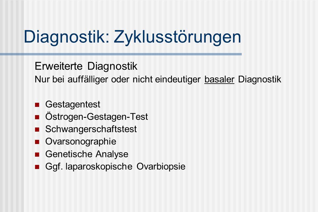 Diagnostik: Zyklusstörungen