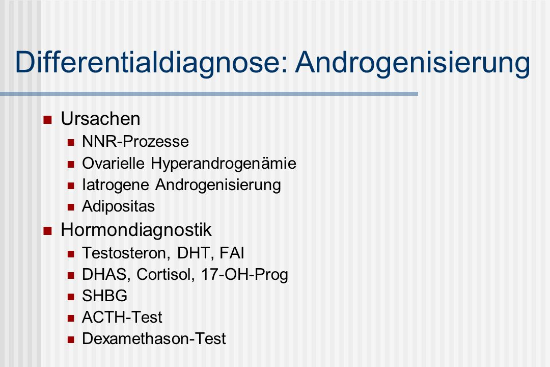 Differentialdiagnose: Androgenisierung