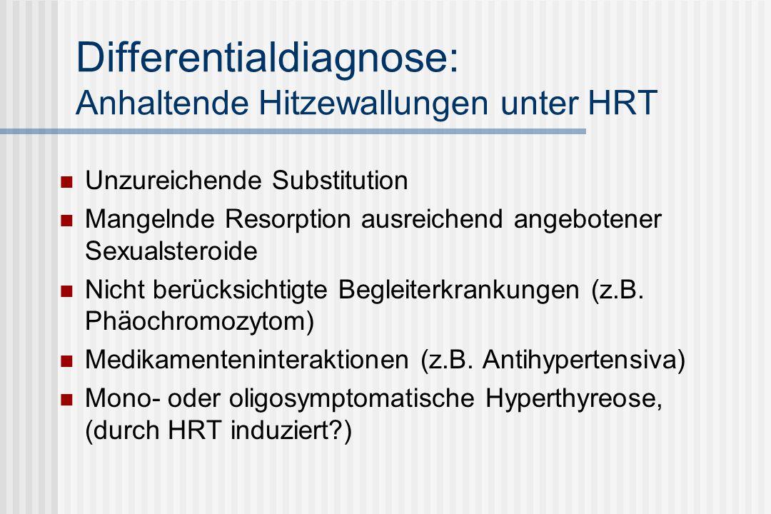Differentialdiagnose: Anhaltende Hitzewallungen unter HRT