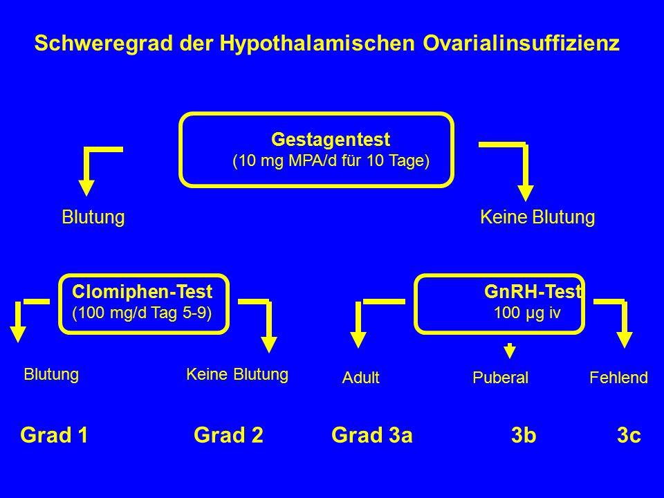 Schweregrad der Hypothalamischen Ovarialinsuffizienz