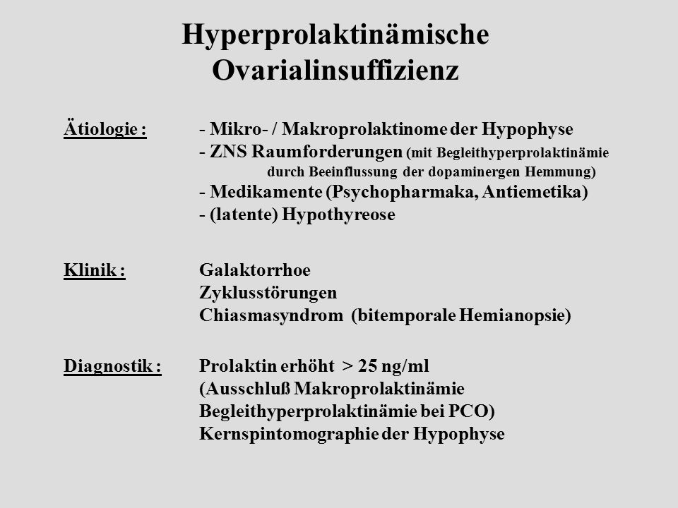 Hyperprolaktinämische