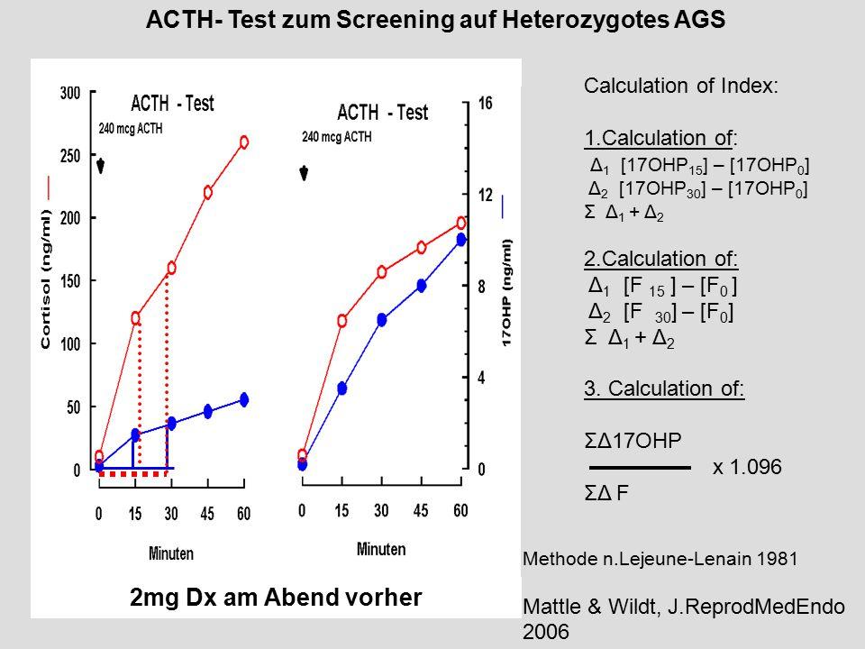 ACTH- Test zum Screening auf Heterozygotes AGS