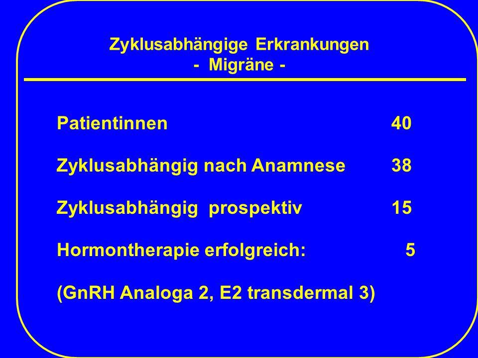Zyklusabhängige Erkrankungen - Migräne -