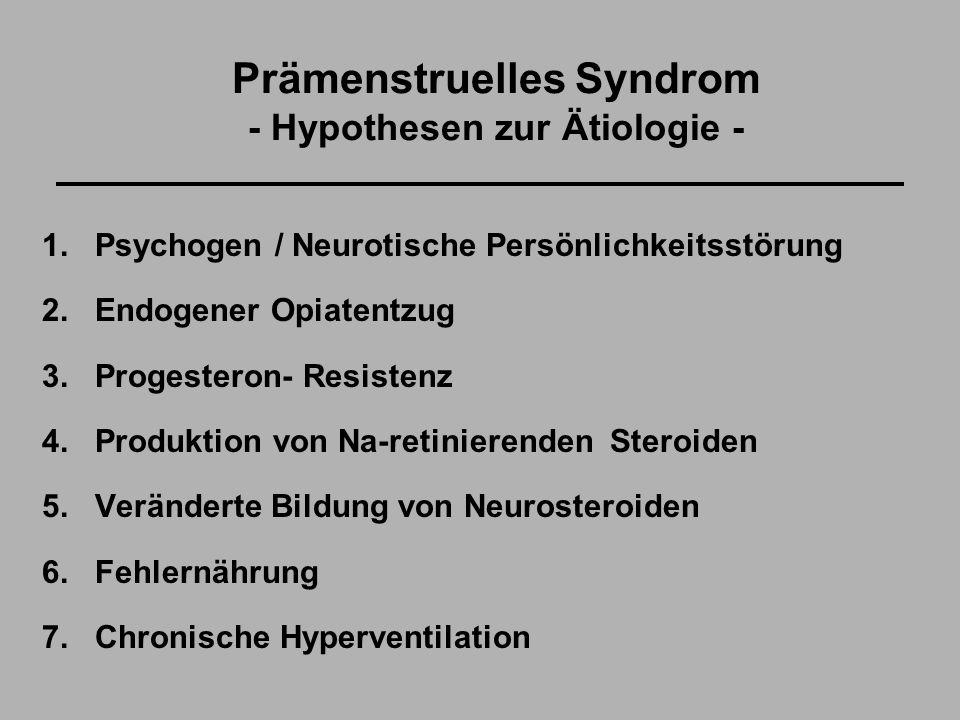 Prämenstruelles Syndrom - Hypothesen zur Ätiologie -