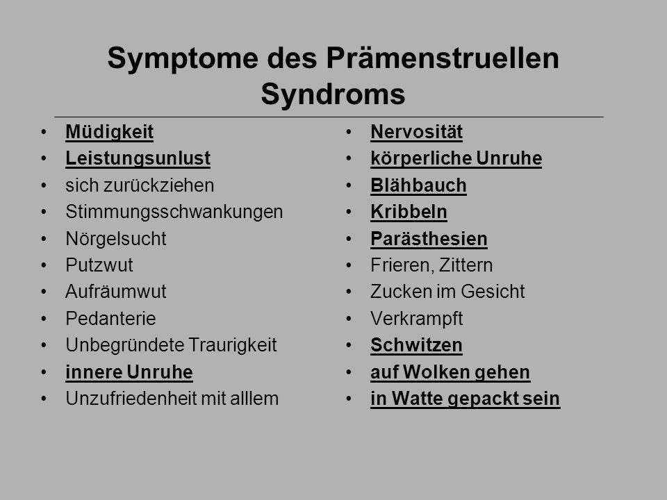 Symptome des Prämenstruellen Syndroms