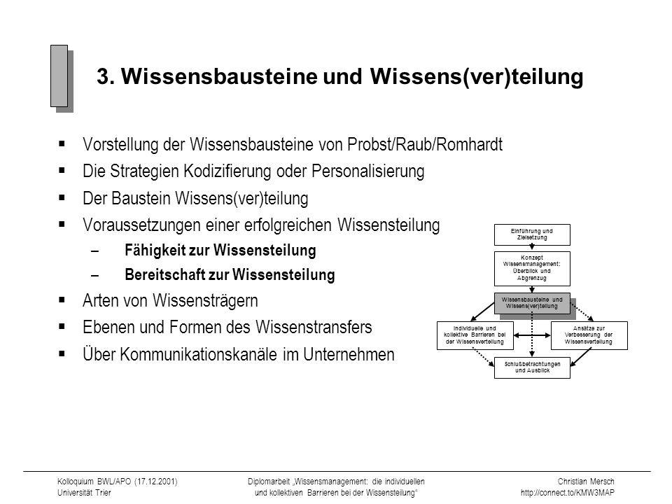 3. Wissensbausteine und Wissens(ver)teilung