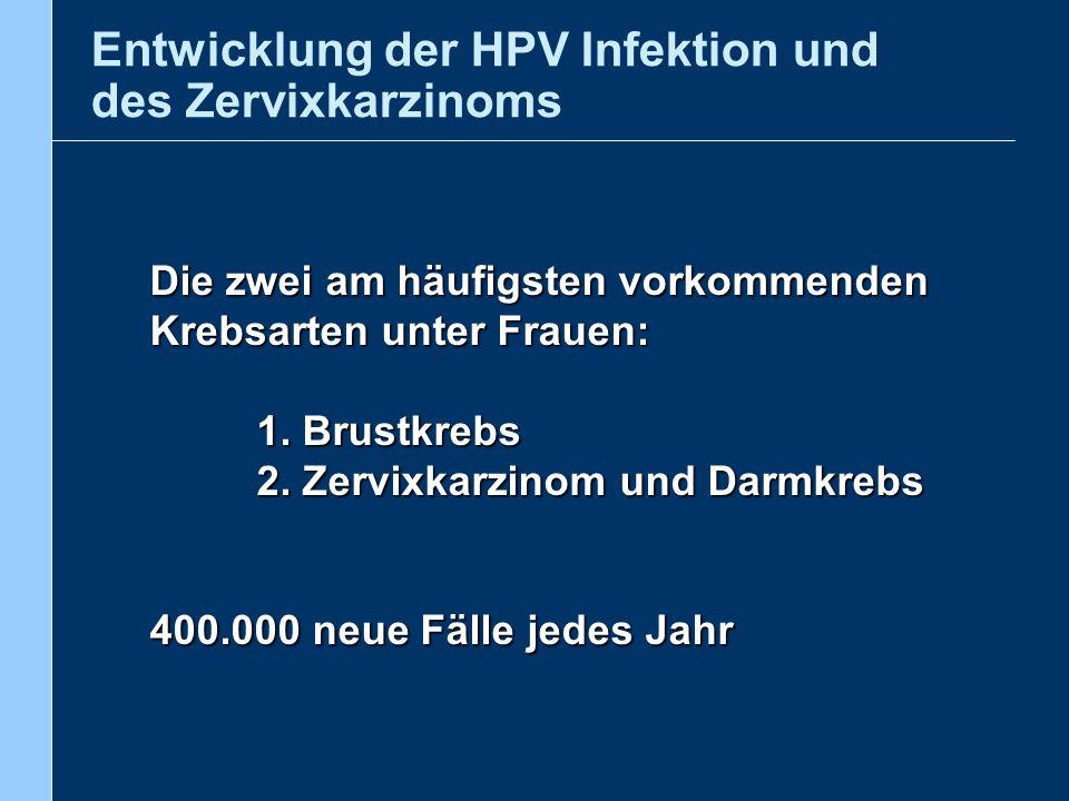 Entwicklung der HPV Infektion und des Zervixkarzinoms