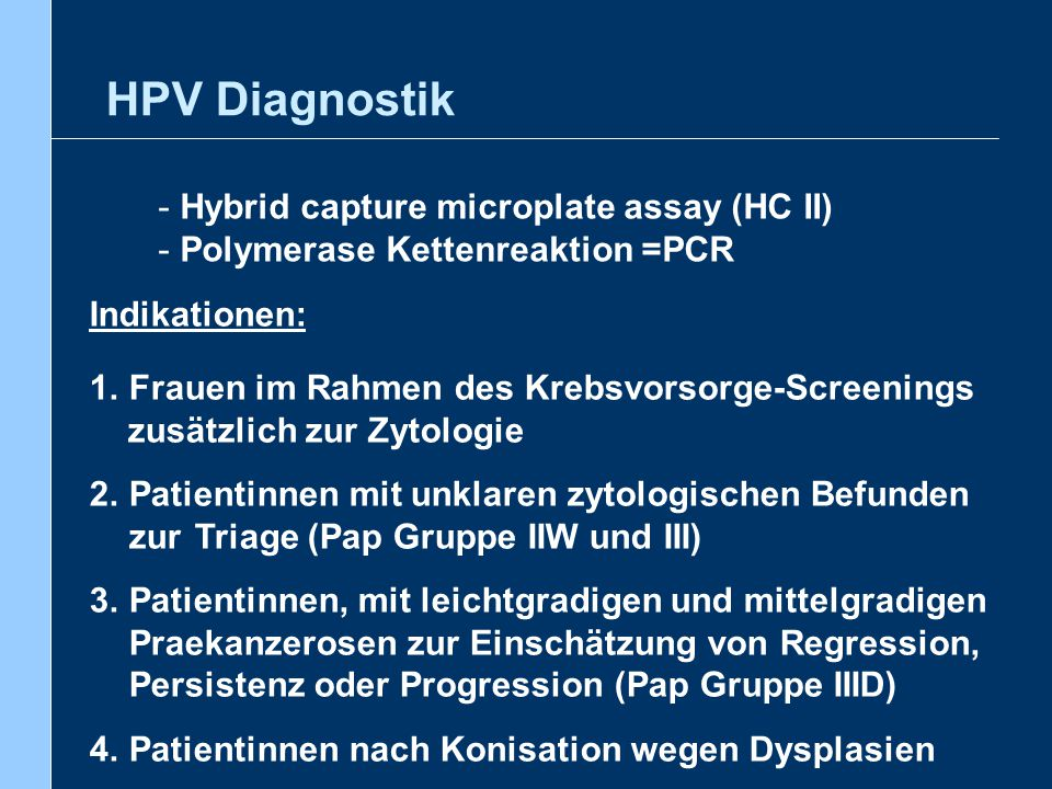 HPV Diagnostik Hybrid capture microplate assay (HC II)