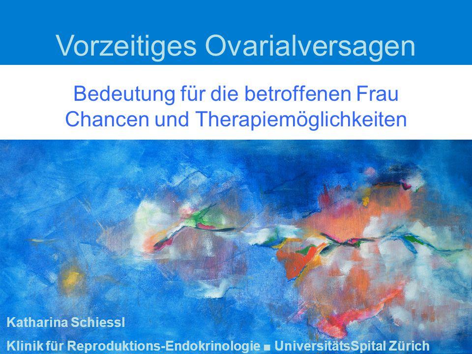 Bedeutung für die betroffenen Frau Chancen und Therapiemöglichkeiten