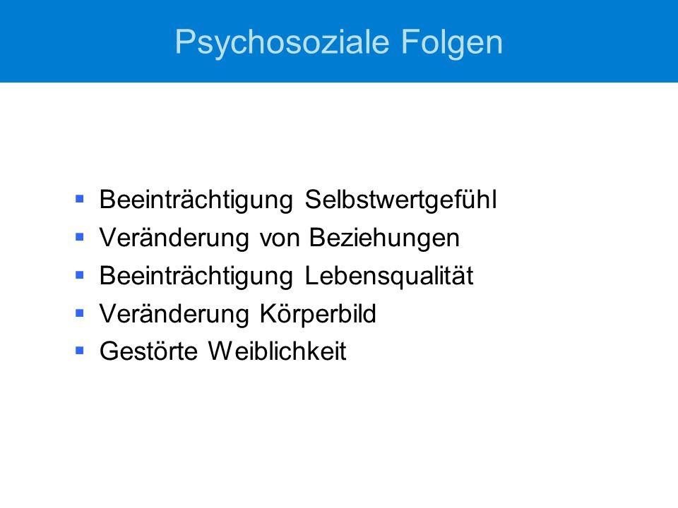 Psychosoziale Folgen Beeinträchtigung Selbstwertgefühl