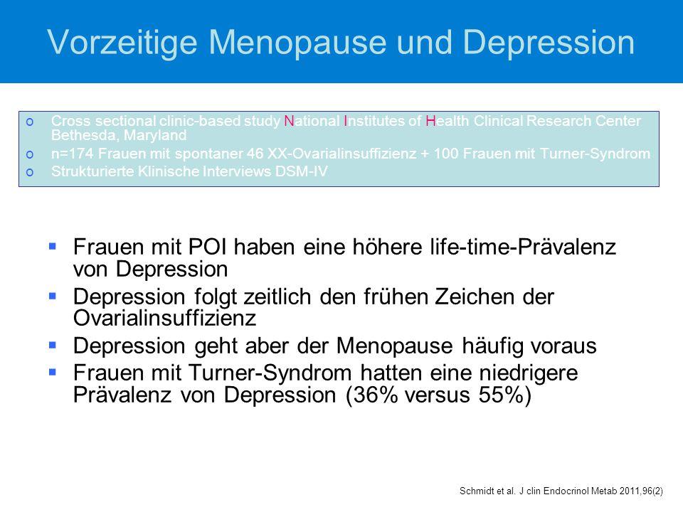 Vorzeitige Menopause und Depression