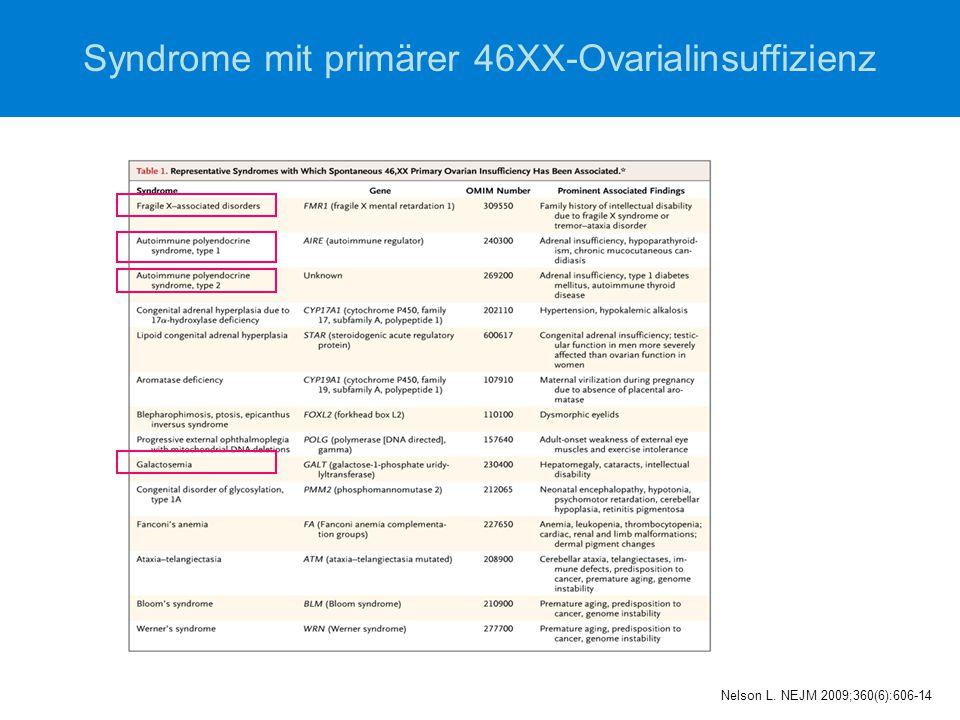 Syndrome mit primärer 46XX-Ovarialinsuffizienz