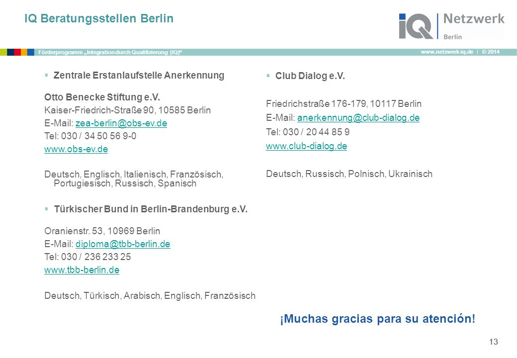 IQ Beratungsstellen Berlin