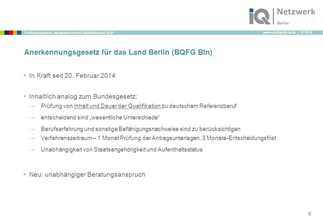 Anerkennungsgesetz für das Land Berlin (BQFG Bln)
