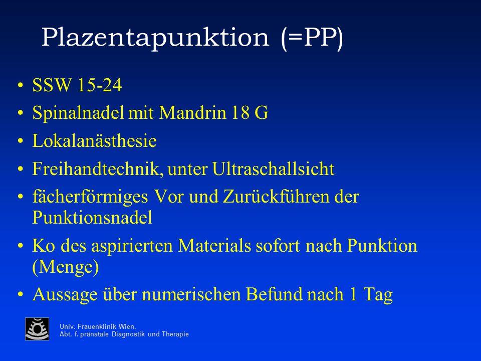 Plazentapunktion (=PP)