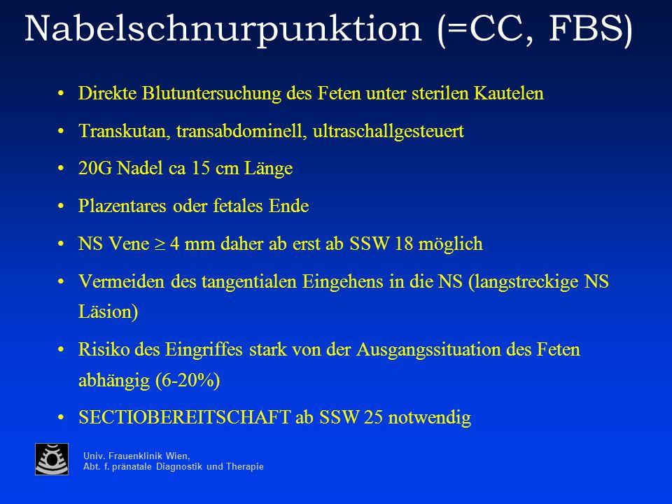 Nabelschnurpunktion (=CC, FBS)