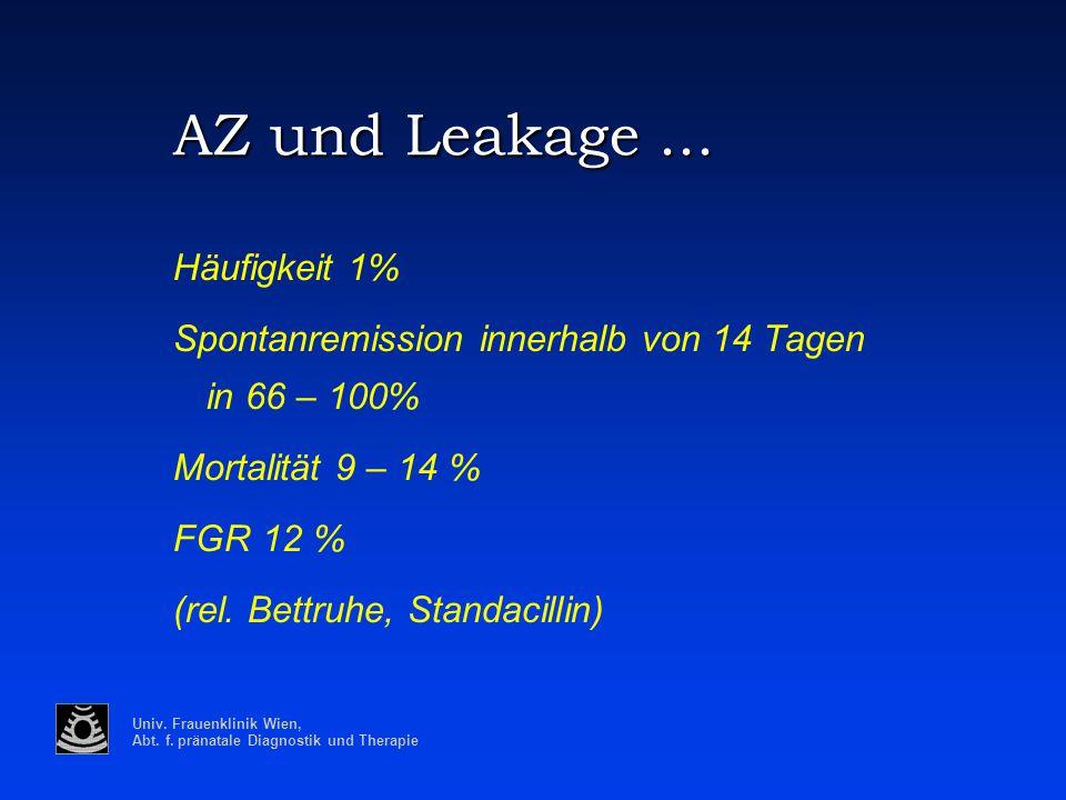 AZ und Leakage ... Häufigkeit 1%