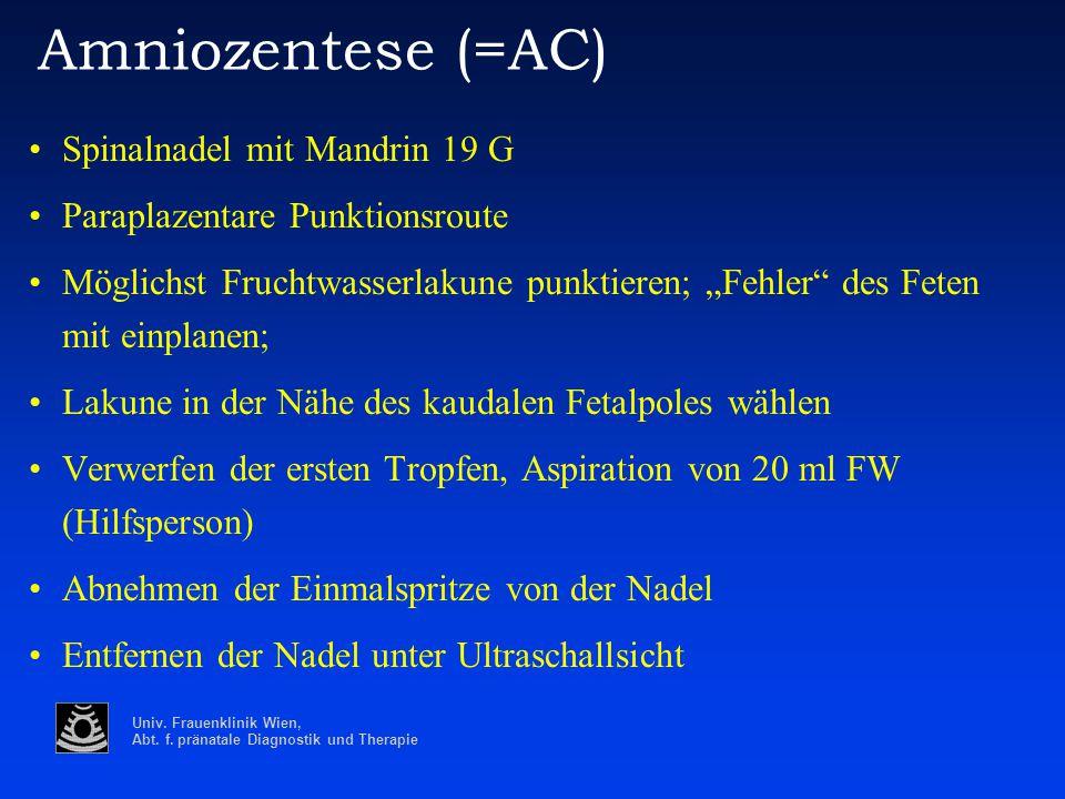Amniozentese (=AC) Spinalnadel mit Mandrin 19 G