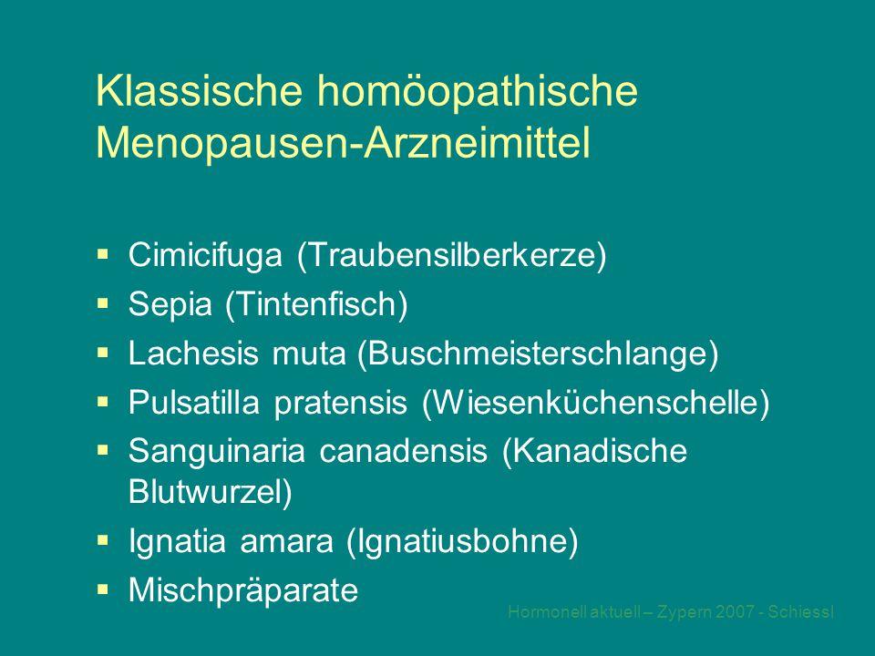 Klassische homöopathische Menopausen-Arzneimittel