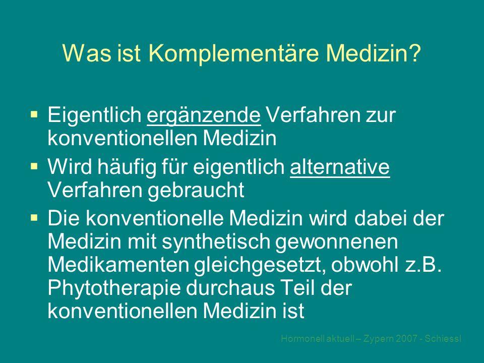 Was ist Komplementäre Medizin
