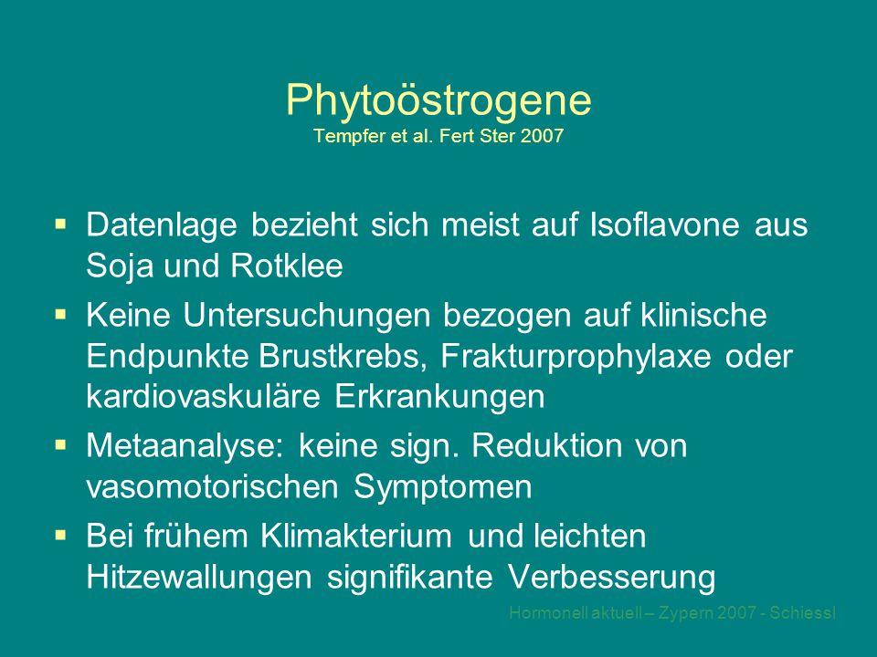 Phytoöstrogene Tempfer et al. Fert Ster 2007
